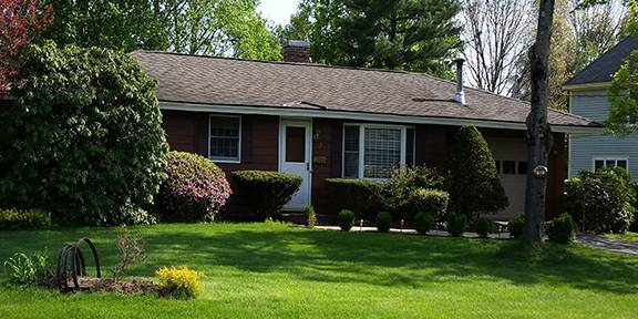 Dark brown home vinyl siding